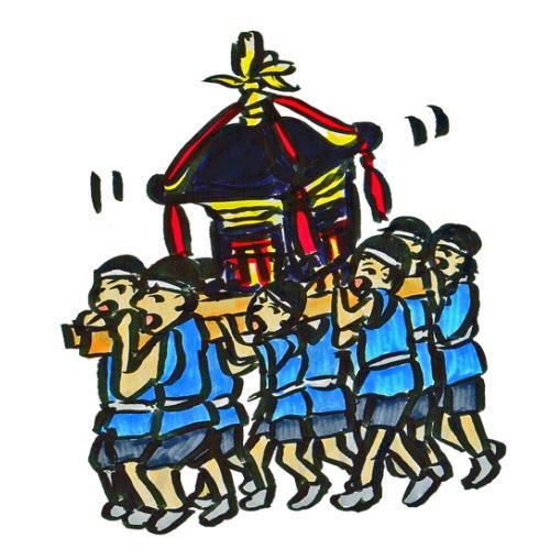 秩父山田の春祭り笠鉾