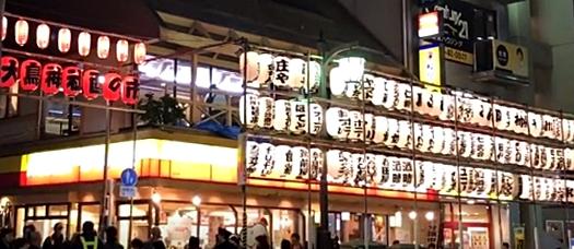 練馬大鳥神社の酉の市企業掲示提灯