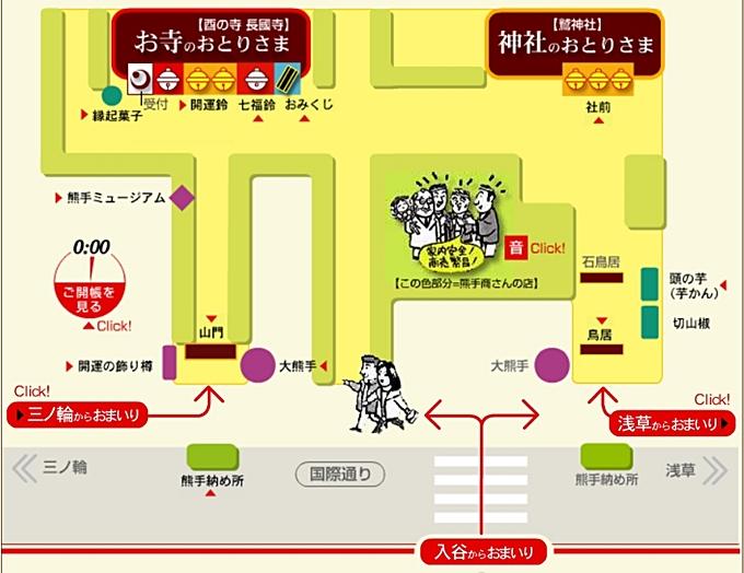 福めぐり浅草酉の市参拝コース