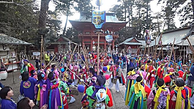 鹿島神宮の祭頭祭の一斉囃し画像