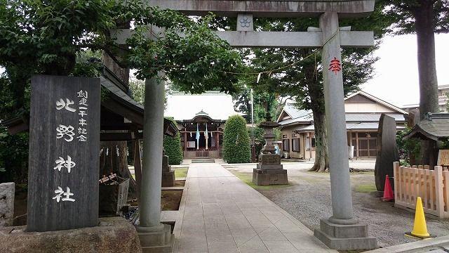 徳丸北野神社 二の鳥居より